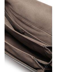 Marco De Vincenzo Brown Tasseled Leather Shoulder Bag Taupe