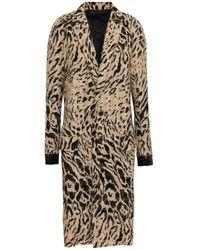 Haider Ackermann Multicolor Satin-trimmed Bouclé Coat