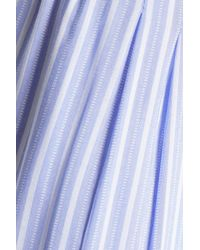 DKNY - Woman Printed Voile Pajama Pants Light Blue - Lyst
