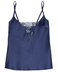 Cosabella - - Positano Lace-trimmed Satin Camisole - Midnight Blue - Lyst