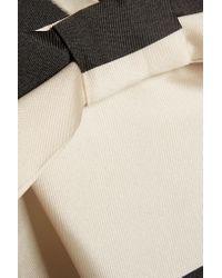 Rochas - Black Two-tone Striped Satin Dress - Lyst