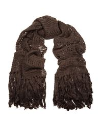 Étoile Isabel Marant | Brown Ricky Knitted Scarf | Lyst