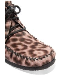 Étoile Isabel Marant Multicolor Flavie Leopard-print Calf Hair Moccasin Boots