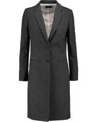 JOSEPH   Gray Striped Cotton-twill Coat   Lyst