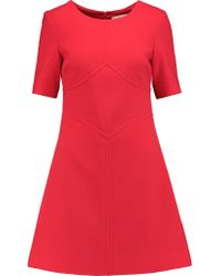 Goat Red Arla Paneled Wool-crepe Mini Dress