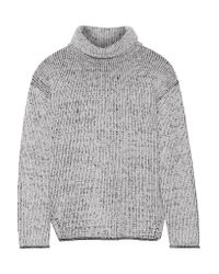 Theory | White Tessalee Wool And Cashmere-blend Turtleneck Sweater | Lyst