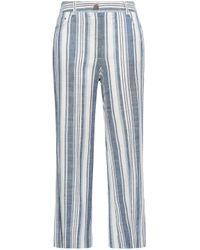 Zimmermann Blue Helm Striped Linen-blend Straight-leg Pants Azure