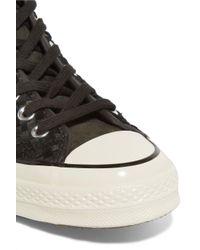 Converse Black Woven Suede High-top Sneakers