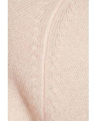 10 Crosby Derek Lam Blue Mohair Blend-trimmed Cashmere Sweater