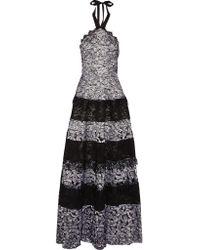 Alexis Black Imelda Halterneck Lace Gown