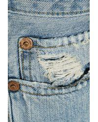 Levi's Blue Distressed Low-rise Skinny Jeans Light Denim