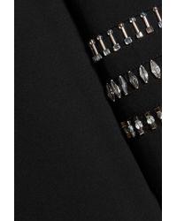 DKNY Black Embellished Crepe Dress
