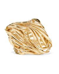 Oscar de la Renta | Metallic Gold-plated Bracelet | Lyst
