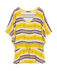 ViX Yellow Tie-dyed Voile Coverup