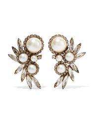 Elizabeth Cole | Metallic Kent Gold-plated Multi-stone Earrings | Lyst