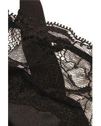 Stella McCartney Black Selma Dancing Lace And Stretch-silk Underwired Bra