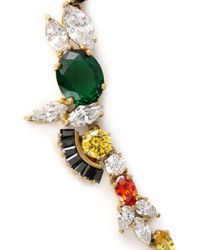 Iosselliani - Black Gold-tone Crystal Necklace - Lyst