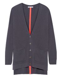 Duffy Gray Two-tone Cashmere Cardigan
