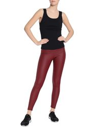 Yummie By Heather Thomson - Red Faux Leather Leggings - Lyst