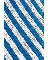 J.Crew - Blue Kingfisher Sequined Silk Crepe De Chine Skirt - Lyst
