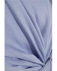 ROKSANDA Blue Thurloe Draped Cutout Crepe Jumpsuit