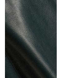 Muubaa - Green Pannala Leather Mini Skirt - Lyst