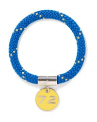 Marc By Marc Jacobs | Blue Location Silver-tone, Cord And Enamel Bracelet | Lyst