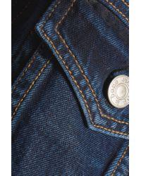 Rag & Bone Blue Cropped Denim Jacket