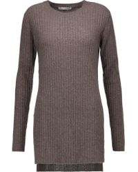 Autumn Cashmere | Gray Slit-sides Cashmere Sweater | Lyst