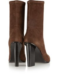 Alexander Wang - Brown Gia Stretch-suede Boots - Lyst
