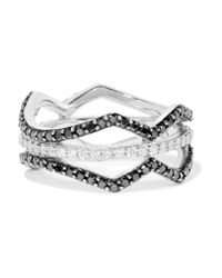 Khai Khai - Metallic Double Helix 18-karat White Gold Diamond Ring - Lyst