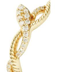 Khai Khai - Metallic Snake On A Vine Gold Diamond Ring - Lyst