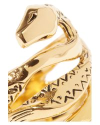 Aurelie Bidermann - Metallic Mamba Gold-plated Ring - Lyst