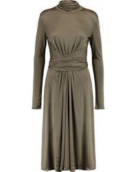 Issa Gray Matilda Silk-jersey Dress