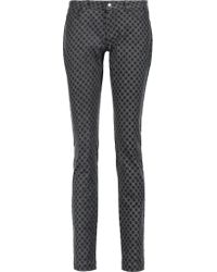 Dolce & Gabbana Black Mid-rise Polka-dot Skinny Jeans