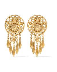 Ben-Amun - Metallic - Gold-plated Clip Earrings - Lyst