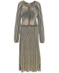 M Missoni Cutout Metallic Crochet-knit Midi Dress Blush