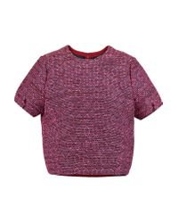 Raoul - Pink Cocoon Tweed Top - Lyst
