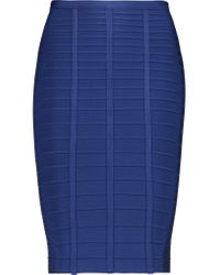 Hervé Léger - Blue Bandage Skirt - Lyst