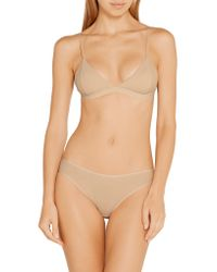 Baserange Natural Mississippi Ribbed Organic Stretch-cotton Soft-cup Bra