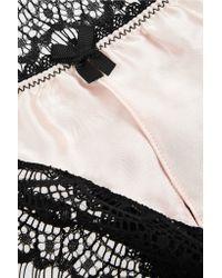 Mimi Holliday by Damaris | Black Bisou Bisou Sugar Mid-rise Silk-trimmed Lace Briefs | Lyst