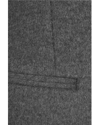 Joseph Gray Marled Wool And Cashmere-blend Coat