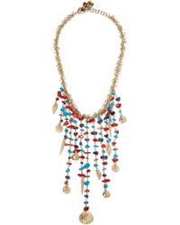 Rosantica | Blue Appeso Brass And Bead Necklace | Lyst