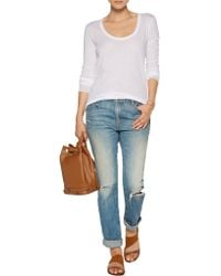 Enza Costa - White Pima Cotton Top - Lyst