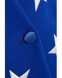 Gareth Pugh Blue Embroidered Wool-blend Blazer