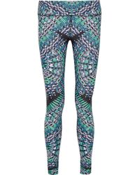 Mara Hoffman   Blue Printed Stretch-jersey Leggings   Lyst