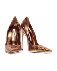 Brian Atwood - Brown Snake Pumps - Lyst