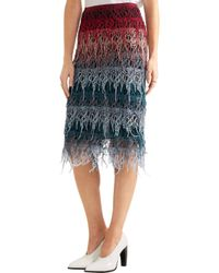 Gabriela Hearst | Leigh Tiered Cotton-lace Skirt | Lyst