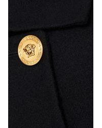 Versace Double-breasted Wool-felt Coat Black