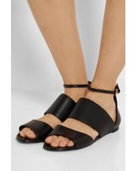 McQ Alexander McQueen | Natural Erin Leather Sandals | Lyst